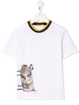 Marni Kids printed T-shirt - White