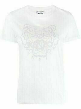 Kenzo Tiger-embroidered T-shirt - White