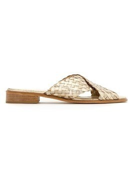 Sarah Chofakian leather flat sandals - Nude & Neutrals