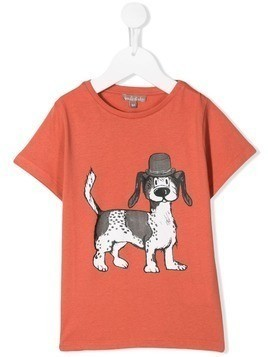 Emile Et Ida dog print T-shirt - Orange