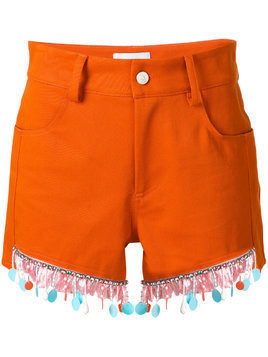 Au Jour Le Jour beaded trim shorts - Orange