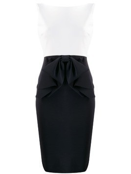 Le Petite Robe Di Chiara Boni two-tone fitted dress - Black