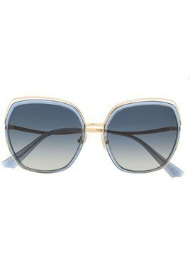 Bolon oversized geometric frame sunglasses - Blue
