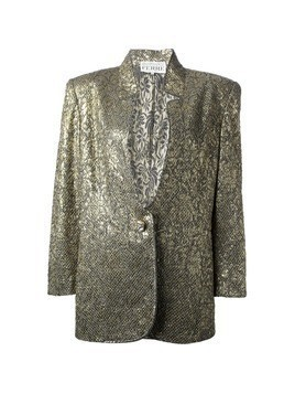 Gianfranco Ferre Vintage jacquard jacket and skirt suit - Metallic