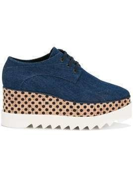 Stella McCartney denim Elyse flatform shoes - Blue