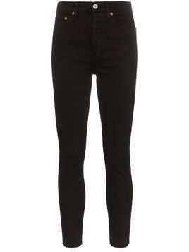 Re/Done cropped high-rise skinny jeans - Black