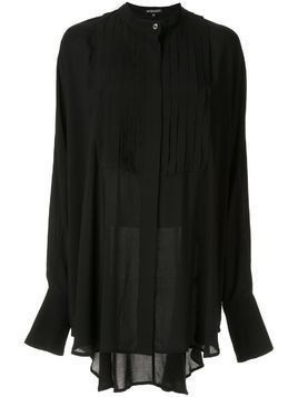 Ann Demeulemeester high low oversized shirt - Black