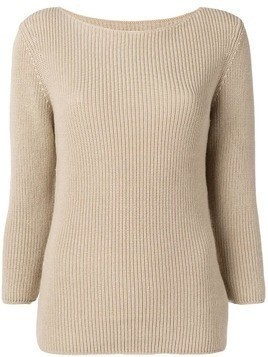 Gentry Portofino ribbed knit sweater - Neutrals