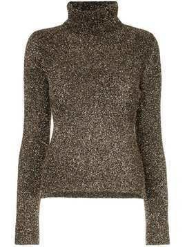 Osman glitter roll neck sweater - Gold