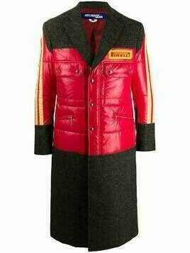 Junya Watanabe Pirelli patch patchwork coat - Red