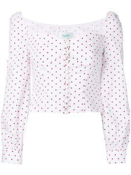 Jovonna Siven dotted blouse - White