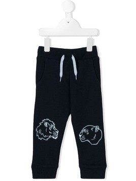Kenzo Kids embroidered track pants - Blue
