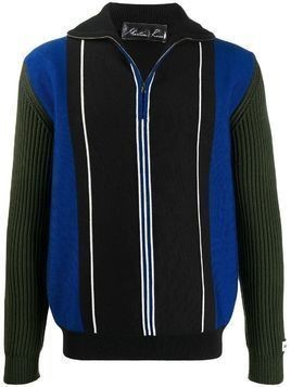 Martine Rose striped zip up jacket - Black