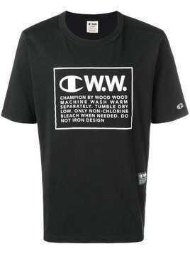 Champion X Wood Wood logo print T-shirt - Black