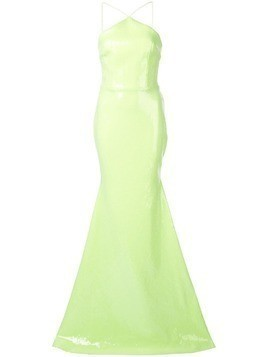 Alex Perry halter neck gown - Green