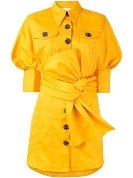 Acler Priestly denim shirt dress - Yellow