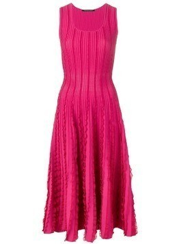 Antonino Valenti ruffle trimming knitted dress - Pink