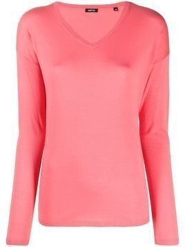Aspesi V-neck knitted top - Pink