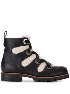 Jimmy Choo Bei shearling trimmed boots - Black