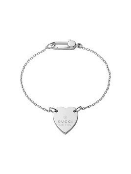 Gucci Bracelet with Gucci trademark heart - Silver