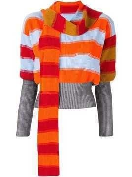 Kiko Kostadinov Bright Polychrome stripe jumper - Red