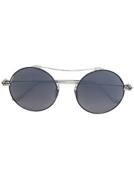 Chrome Hearts round frame sunglasses - Grey