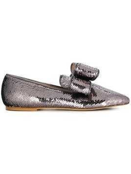 Polly Plume sequin embellished loafers - Metallic