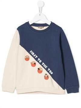 Emile Et Ida 'First to The Top' jersey sweater - Blue