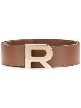 Rochas logo buckle belt - Brown