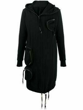 Army Of Me multi pockets hooded coat - Black