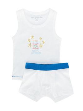 Stella Mccartney Kids Celebration tank and boxer set - White