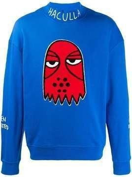 Haculla embroidered sweatshirt - Blue