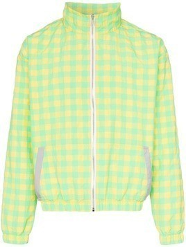 Duo check print zipped jacket - Yellow