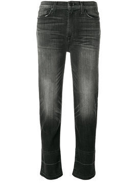 Hudson faded cropped jeans - Black