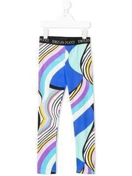 Emilio Pucci printed leggings - Blue