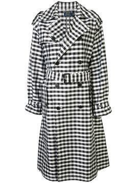 Polo Ralph Lauren checked trench coat - Black