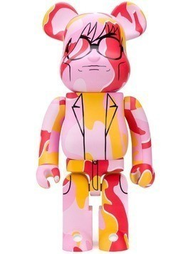 Medicom Toy x Andy Warhol Be@rbrick Man print Bear - Pink