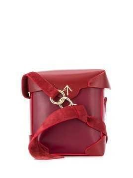 Manu Atelier Pristine box crossbody bag - Red