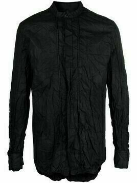 Masnada creased-effect shirt - Black