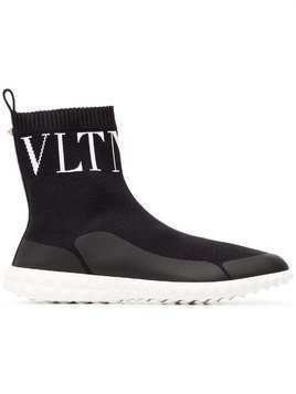 Valentino knitted sock boots - Black