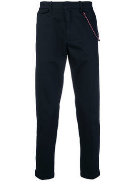 Closed rope trim trousers - Blue