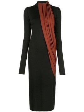 Marina Moscone two-tone long dress - Black