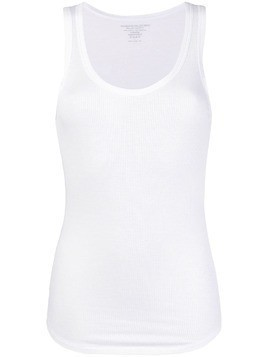 Majestic Filatures ribbed tank top - White