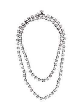 Ann Demeulemeester crystal stone necklace - White