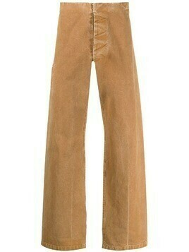 Maison Martin Margiela Pre-Owned 2000s concealed fastening straight leg trousers - Brown