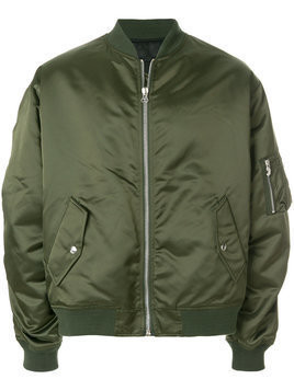 Golden Goose Deluxe Brand - gathered sleeve bomber jacket - Herren - Polyamide - L - Green