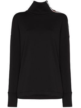 Sweaty Betty side-zip panelled ski fleece - Black