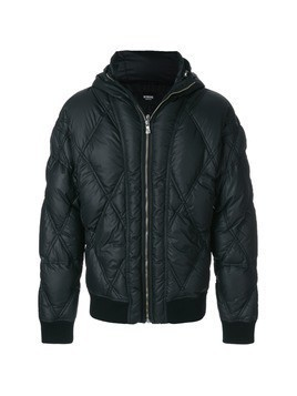 Versus diamond quilted bomber jacket - Black