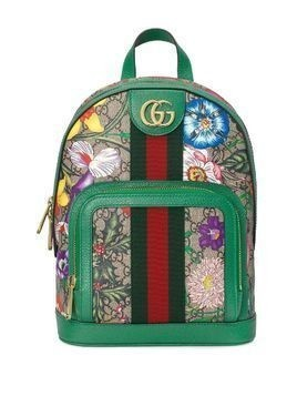 Gucci Ophidia GG Flora backpack - Green