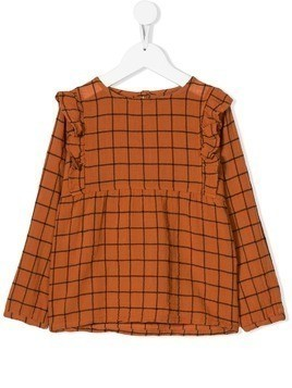 Emile Et Ida wide check blouse - Orange